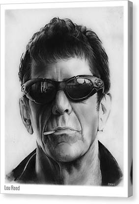 Lou Reed Canvas Print by Greg Joens