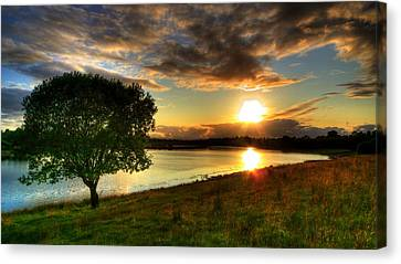 Lough Erne Sunset Canvas Print by Kim Shatwell-Irishphotographer