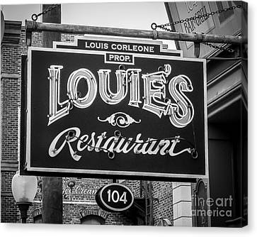 Louie's Canvas Print by Perry Webster