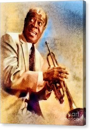 Louis Armstrong, Music Legend Canvas Print
