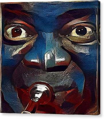 Louis Armstrong - My Www Vikinek-art.com Canvas Print by Viktor Lebeda