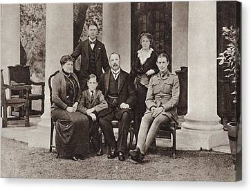 Louis Botha And His Family. Louis Canvas Print by Vintage Design Pics