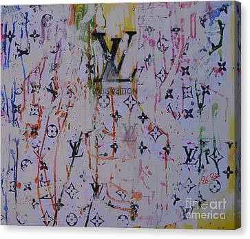 Louis Vuitton Monograms Canvas Print by To-Tam Gerwe