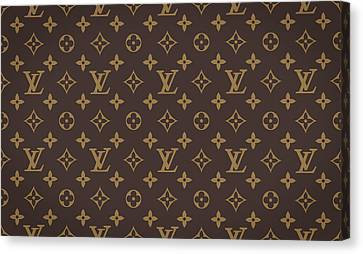 Fashion Canvas Print - Louis Vuitton Texture by Taylan Apukovska