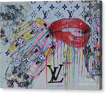 Drips Canvas Print - Louis Vuitton The Magnificent Seven 3 by To-Tam Gerwe