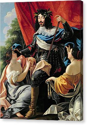 Ladies In Waiting Canvas Print - Louis Xiii by Simon Vouet