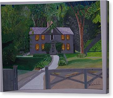 Louisa May Alcott's Home Canvas Print by William Demboski