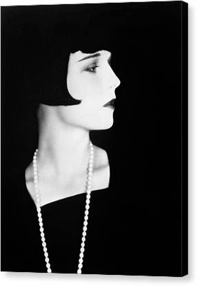 Louise Brooks, 1928. Photograph Canvas Print by Everett