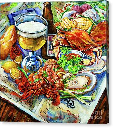 Food Canvas Print - Louisiana 4 Seasons by Dianne Parks