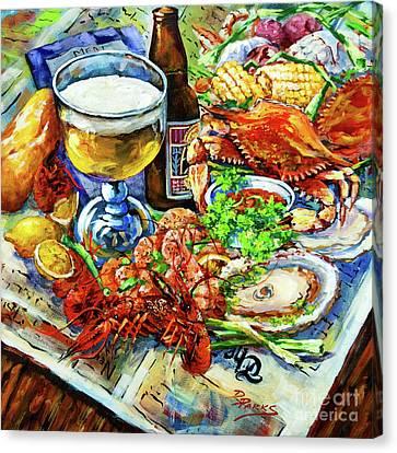 Boiled Canvas Print - Louisiana 4 Seasons by Dianne Parks