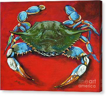 Louisiana Blue On Red Canvas Print
