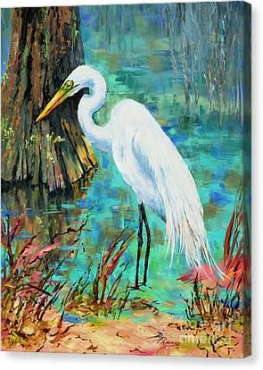 Louisiana Male Egret Canvas Print