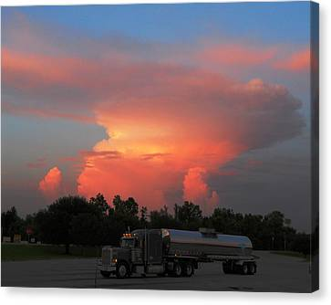 Canvas Print featuring the photograph Louisiana Sunset by Maggy Marsh