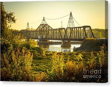 Louisiana Swing Bridge Canvas Print by Imagery by Charly