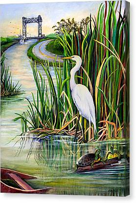 Seaweed Canvas Print - Louisiana Wetlands by Elaine Hodges