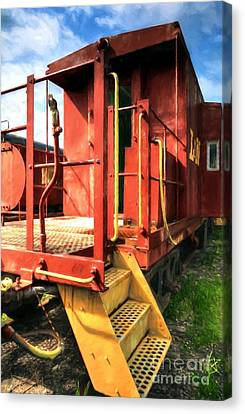 Louisville And Nashville Red Caboose Canvas Print