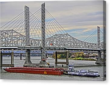 Louisville Bridges Canvas Print by Dennis Cox WorldViews