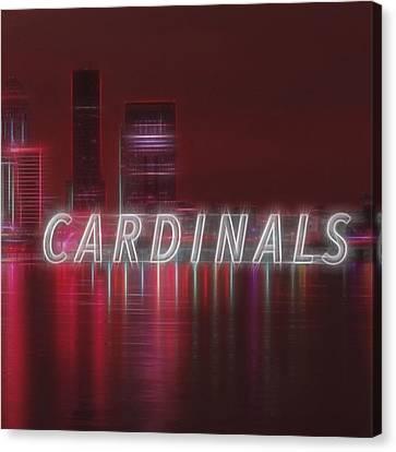 Sports Canvas Print - #louisville #cardinals by David Haskett