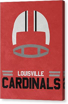 March Canvas Print - Louisville Cardinals Vintage Football Art by Joe Hamilton