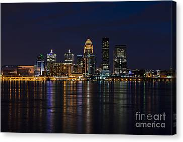 Louisville Skyline Canvas Print by Andrea Silies
