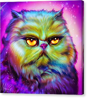 Loulou, Persian Cat Canvas Print by Naomi Jansen