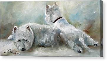 Lounge Canvas Print by Mary Sparrow