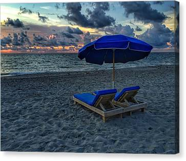 Lounging By The Sea Canvas Print