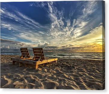Lounging For 2 Canvas Print