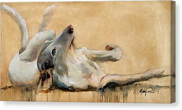 Sight Hound Canvas Print - Lounging by Mary Leslie