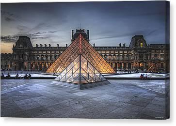 Louvre At Dusk Canvas Print