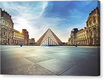 Chateau Canvas Print - Louvre Museum by Ivan Vukelic