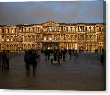 Canvas Print featuring the photograph Louvre Palace, Cour Carree by Mark Czerniec