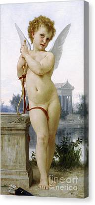 Love, 1891 Canvas Print by William-Adolphe Bouguereau