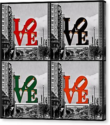 Canvas Print featuring the photograph Love 4 All by DJ Florek