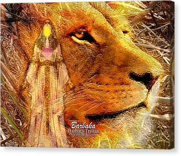 Canvas Print featuring the digital art Love 444 Cecil by Barbara Tristan