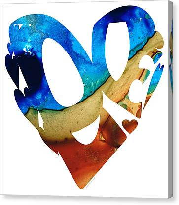 Love 6 - Heart Hearts Valentine's Day Canvas Print by Sharon Cummings