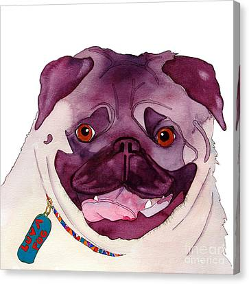 Love A Pug Canvas Print by Jo Lynch