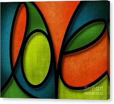 Canvas Print featuring the mixed media Love - Abstract by Shevon Johnson
