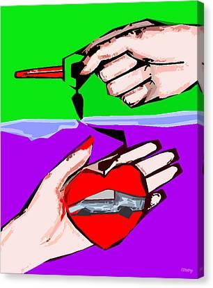 Love Affair Canvas Print by Patrick J Murphy
