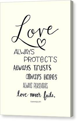 Love Always Canvas Print by Nancy Ingersoll