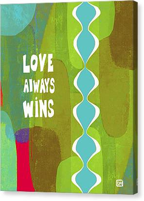 Love Always Wins Canvas Print by Lisa Weedn