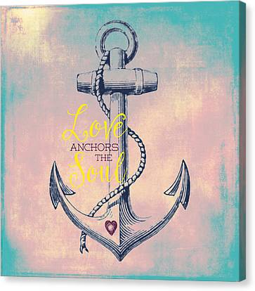 Love Anchors The Soul 2 Canvas Print by Brandi Fitzgerald