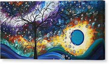 Love And Laughter By Madart Canvas Print by Megan Duncanson