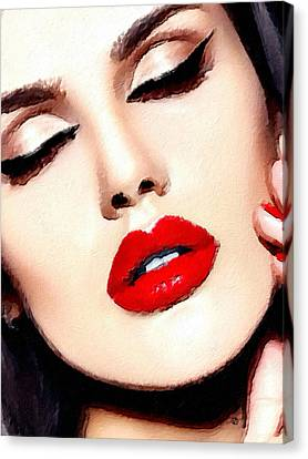 Love And Passion Portrait Of A Woman Crop Canvas Print by Tony Rubino
