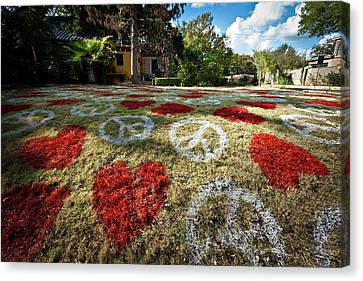 Canvas Print featuring the photograph Love And Peace by Robert Harshman