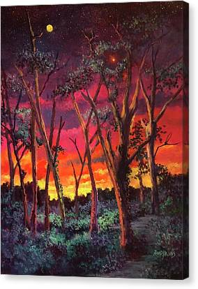 Love And The Evening Star Canvas Print