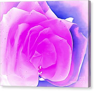 Digital Paint Flower Canvas Print - Love At First Sight by Krissy Katsimbras