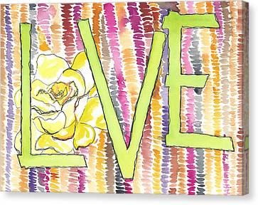Love Back Through Time Canvas Print by Faith Teel