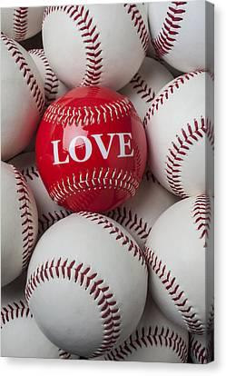 Love Baseball Canvas Print by Garry Gay