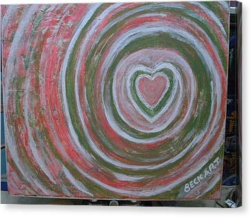 Love Canvas Print by Becky Jenney